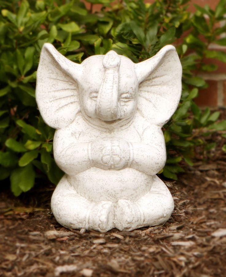 Meditating Zen Elephant Garden Statue Elephant Decor 400 x 300