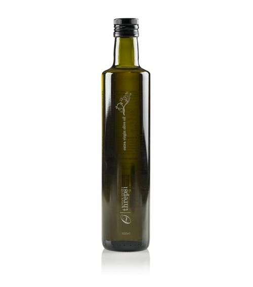 """""""Threpsi"""" extra virgin olive oil 500ml available at just 7.70€"""