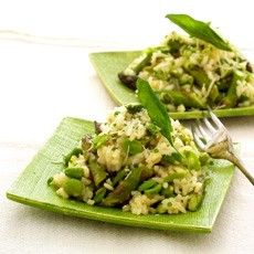 "Risotto Verde | ""Eating rice cakes is like chewing on a foam coffee c ..."