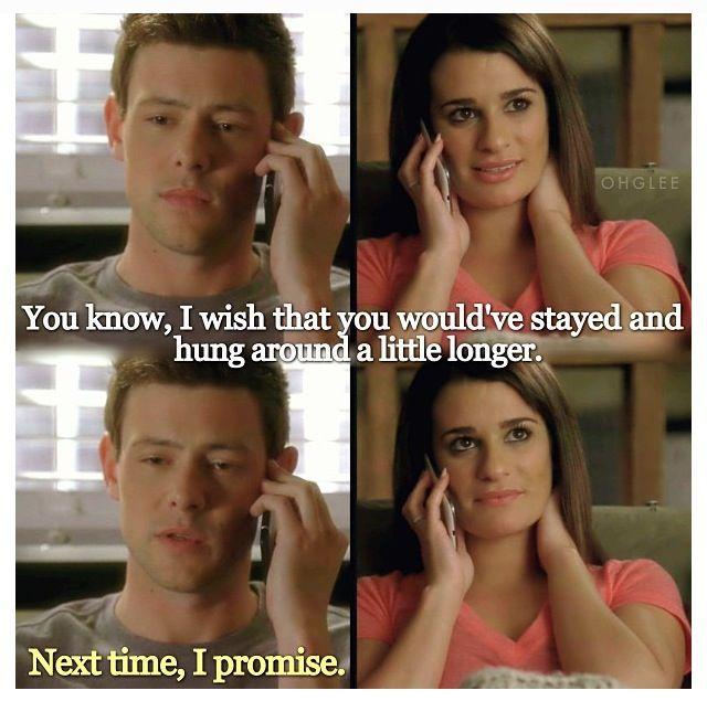 Cory Monteith's last scene. This makes my heart hurt. :( #Glee