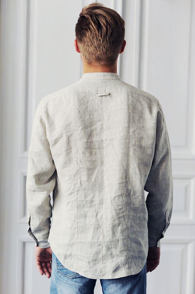 KOIRE men shirt, 100% linen www.koireshop.com