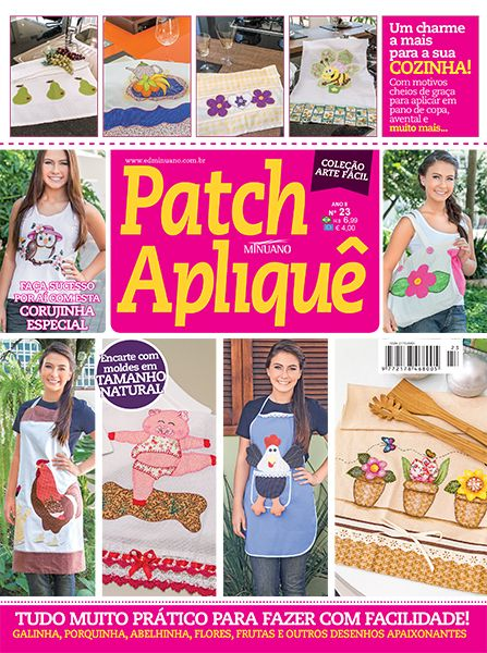 Artesanato - Apliquê - Patchwork : COL ARTE FACIL PATCHAPLIQUE 023 - Editora Minuano