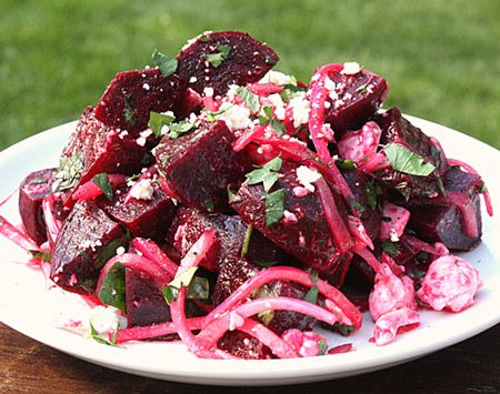 Beet Salad with Pickled Onions and Feta | On the Side... | Pinterest