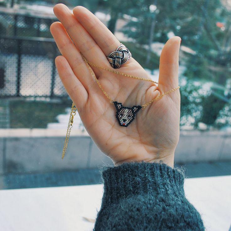 handmade miyuki necklace.