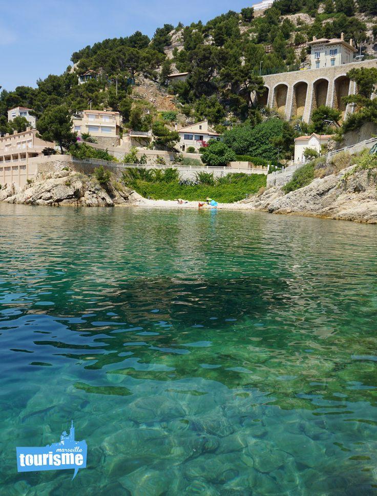 #Plage d'Ensues, l'eau limpide laisse apercevoir les fonds marins et les poissons ! #paradisiaque #voyage #sud #Marseille