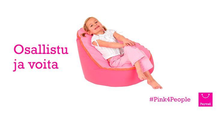 #Pink4People   Paytrail  Vko 47: Voita Doomoo Seat -säkkituoli!  Palkintona arvotaan lasten Doomoo Seat -säkkituoli, jossa joulun odotus ja lelukuvastojen selailu sujuu leppoisammin. Luo Paytrail-tili ja voita lapsellesi luksusta Kidster.fi -verkkokaupasta!