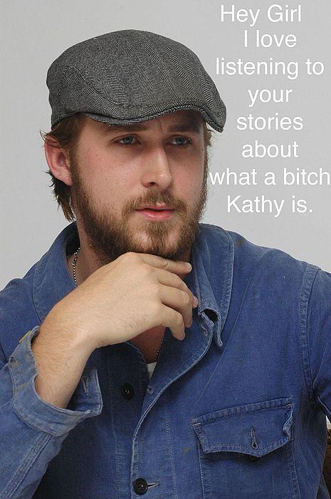 Ryan Gosling. So cute. Plus I love that he's a meme now.