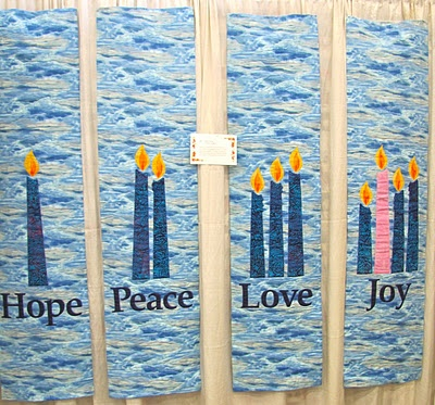 hope peace love and joy candle #quilts