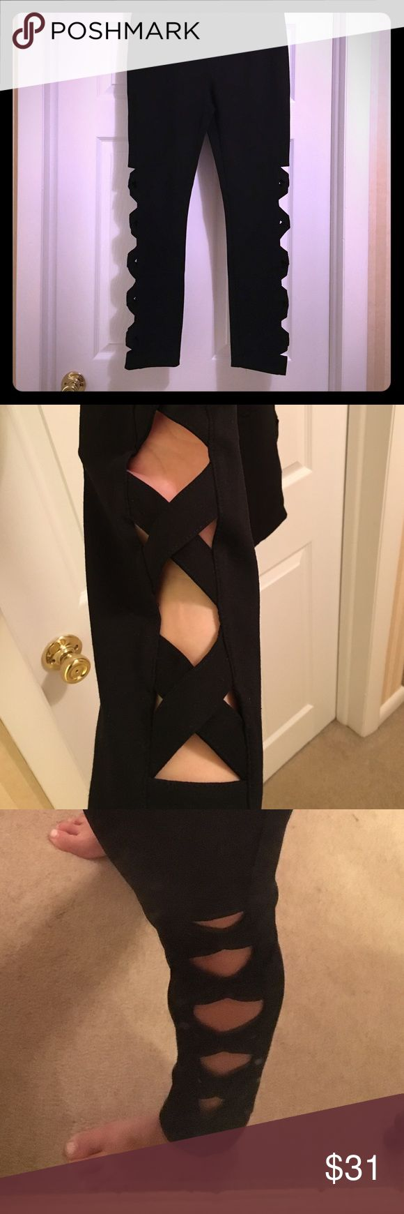 how to cut leggings down the side