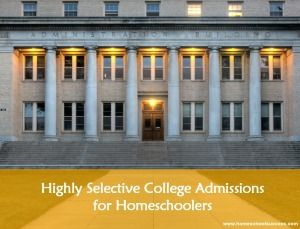 Highly Selective College Admissions by Homeschool Success. Find out what top colleges expect for academics, extracurricular activities and testing. Helpful advice for any student who would like to get into a good college.