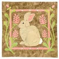 Cottontale Rabbit Pattern by Jeri Kelly at KayeWood.com. Each pattern includes the step-by-step instructions plus the line art to complete the design shown. The projects are created with easy pieced backgrounds and quick-fuse appliqué. http://www.kayewood.com/item/Cottontale_Rabbit_Pattern/2484 $8.50