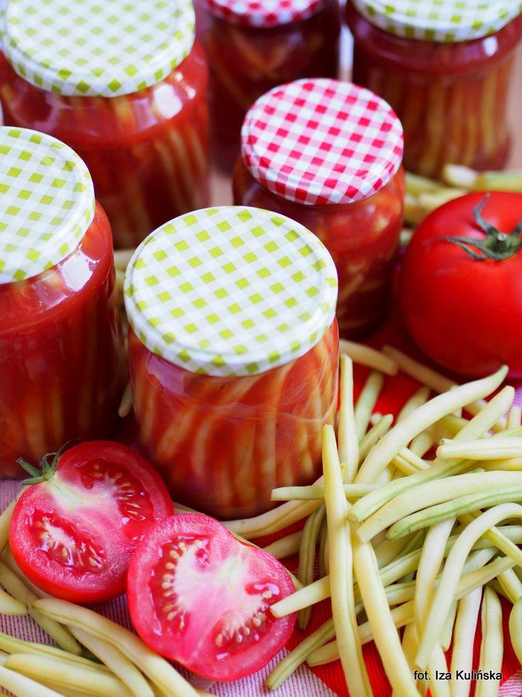 Smaczna Pyza: Słoiki. Na zimę. Fasolka szparagowa w pomidorach