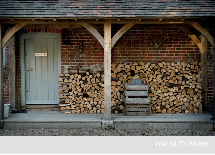 Walnuts farm website, oak frame porch