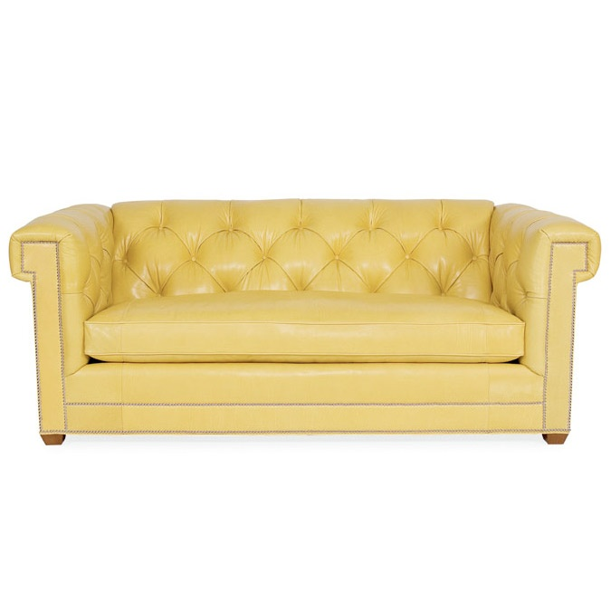 Yellow Leather Sofa: Yes, I Think It's Time For A Yellow Leather Sofa