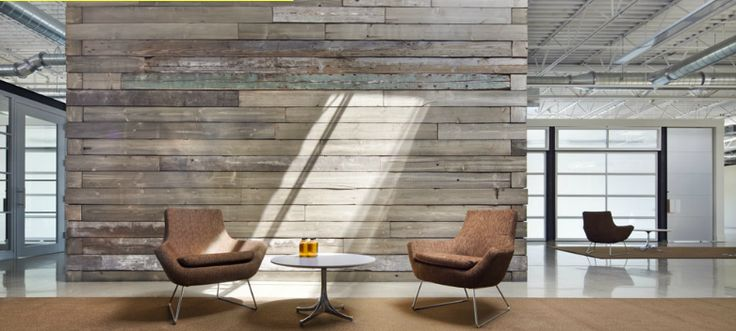 Reclaimed Wood Feature Wall Offices Pinterest Wood