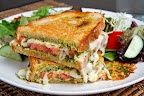 Caprese Grilled Cheese Sandwich. looks so much better than plain ol' bread and cheese.