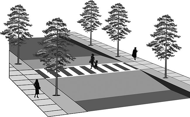 Diagram/illustration depicting The raised roadway ...