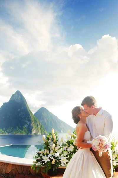 St. Lucia is the perfect backdrop to your beach wedding