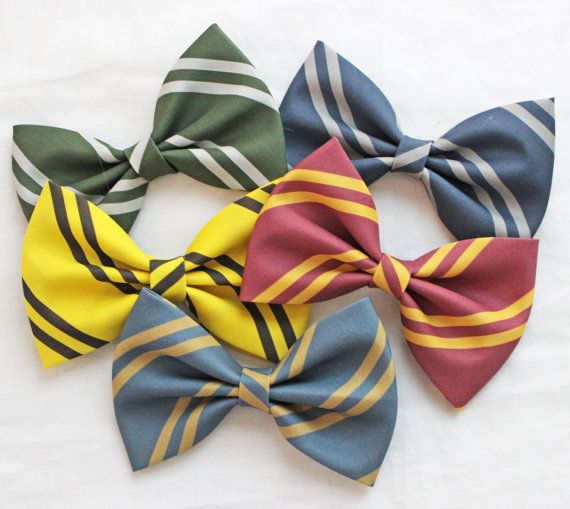 Hogwarts House Colors Bows! Gryffindor Ravenclaw Slytherin Hufflepuff PICK ONE on Etsy, $10.95