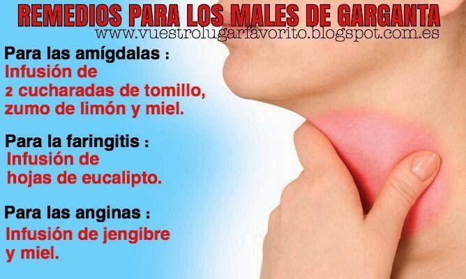 Remedios naturales para los dolores de garganta.