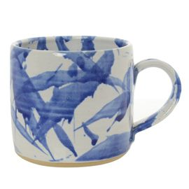 Splash Ceramic Small Mug Blue and White at Heal's