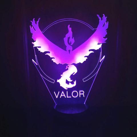 Pokemon Go Valor   3D illusion night light