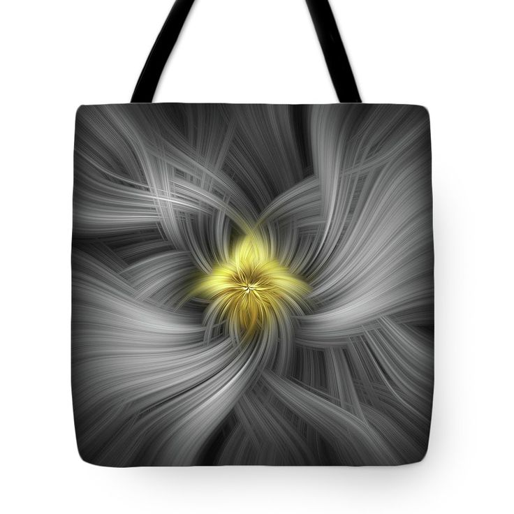 Silver And Gold. Mystery Of Colors Tote Bag by Jenny Rainbow.  The tote bag is machine washable, available in three different sizes, and includes a black strap for easy carrying on your shoulder.  All totes are available for worldwide shipping and include a money-back guarantee.
