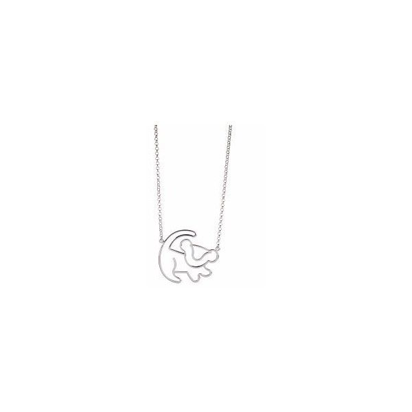 Platinum Plated Simba Outline Lion King Necklace from Disney Couture ❤ liked on Polyvore featuring jewelry, necklaces, disney couture necklace, lion jewelry, disney couture jewelry, platinum plated jewelry and lion necklace