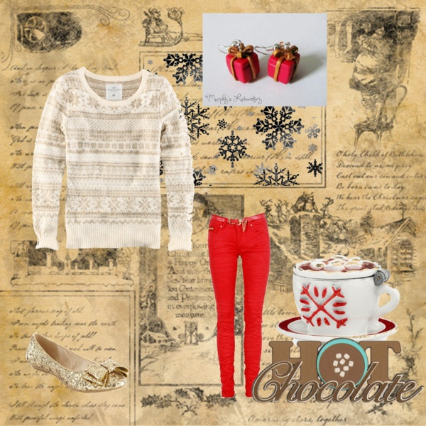 """hot chocolate with friends"" by mandytarragon on Polyvore"