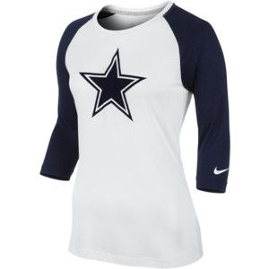 Nike 3rd 'n' Long Raglan NFL Dallas Cowboys Women's Shirt - College Navy, XL