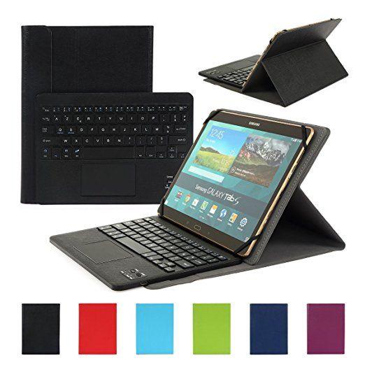 Clavier AZERTY Bluetooth 3.0 Étui Housse pour tout système Windows Android Tablette PC 9.0-10.6 pouces Touchpad tactile: Amazon.fr: High-tech