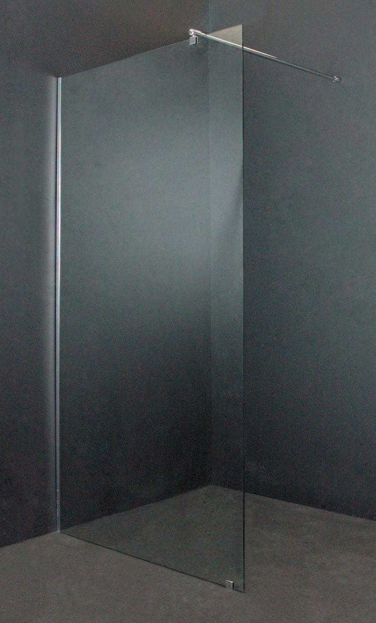 Hoogte 200cm, 8mm veiligheidsglas, stabilisatiestang 100cm #smart #glazen #douche #cabine #vaste #wand