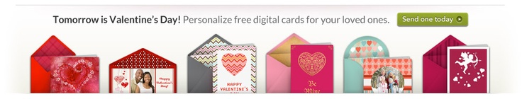 free e-cards:  Personalize them yourself!  So much cuter that Blue Mountain or 123 greetings.