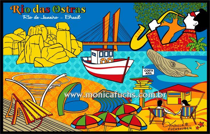 RIO DAS OSTRAS - Rio de Janeiro Deseja encomendar uma arte ou comprar uma reprodução? Entre em contato: contato@monicafuchs.com.br