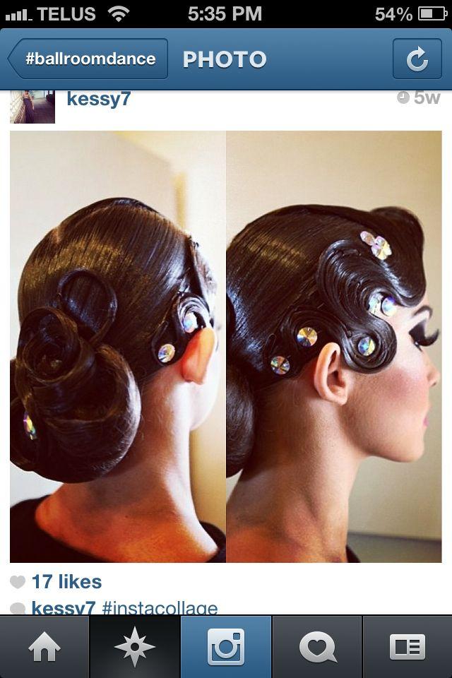 Magnificent 1000 Ideas About Ballroom Dance Hair On Pinterest Ballroom Hair Short Hairstyles Gunalazisus
