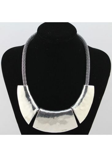 Chic Chain Silver Chunky Choker Necklace on sale only US$6.73 now, buy cheap Chic Chain Silver Chunky Choker Necklace at liligal.com