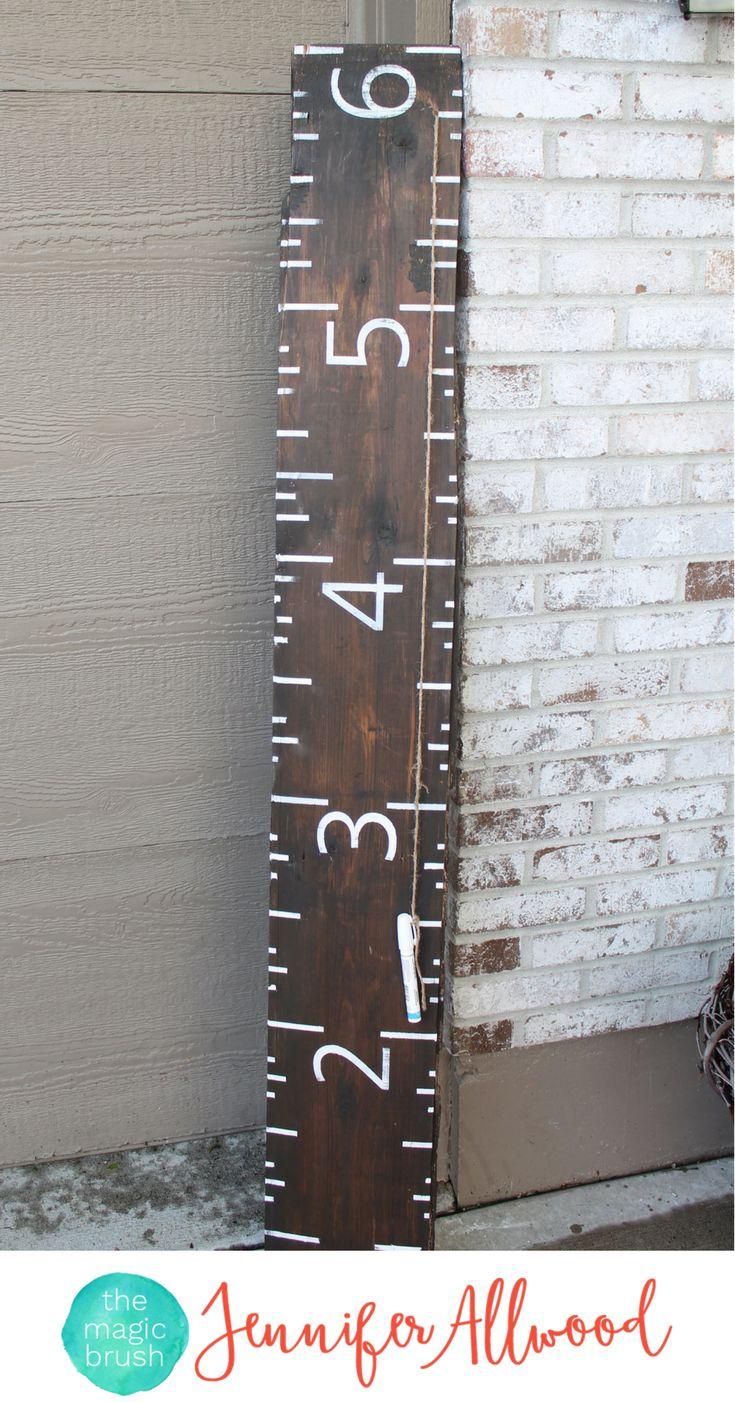 diy growth chart ruler on reclaimed wood