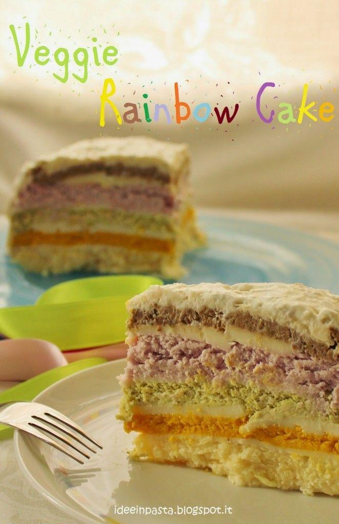 Veggie Rainbow Cake (torta di verdure a strati multicolor)