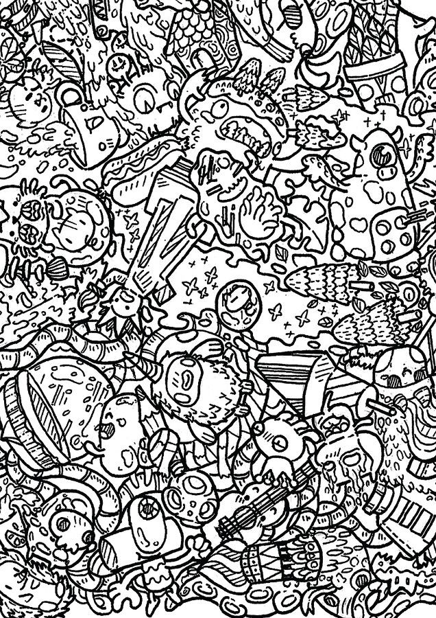 Doodle Invasion Coloring Book See More Zifflin
