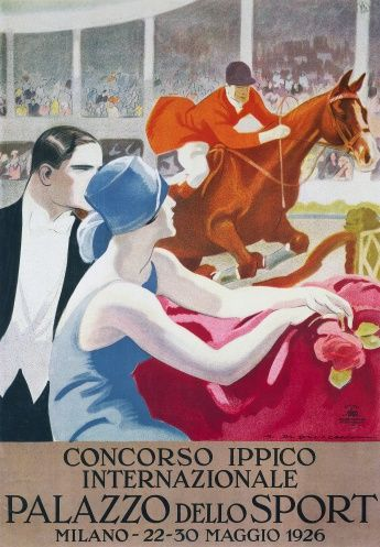 Poster for horse-riding competition in Milan, 22-30 May, 1926, by Marcello Dudovich (1878-1962), Italy, 20th century