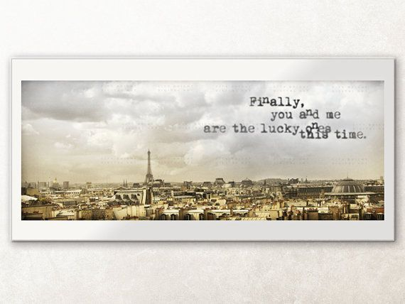 Lucky Ones / Paris digital photography art 8.5 x 3.5 by CityBright, $9.95