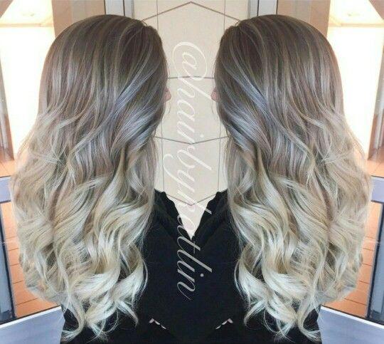 Ash blonde ombre new hair pinterest cendre balayage - Balayage blond cendre ...
