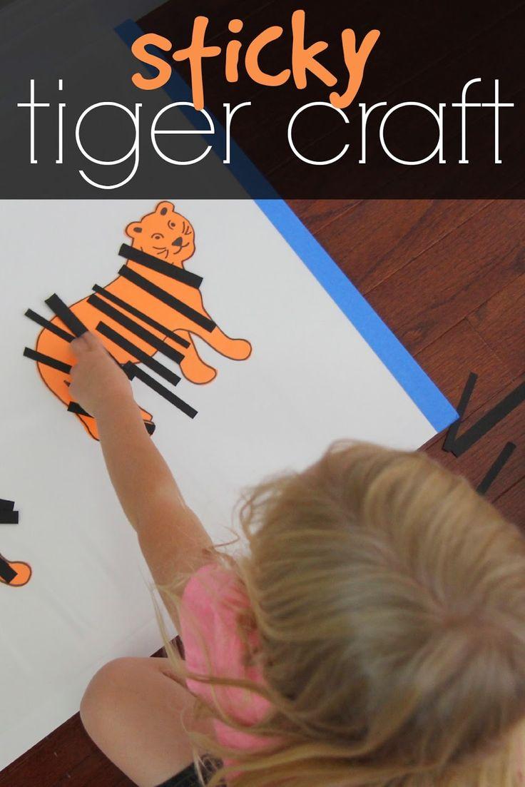Sticky Tiger Craft for Kids - Toddler Approved!