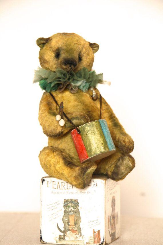 Adopted Artist Teddy Bear 24 cm 9 inch. by NatashaMurasha