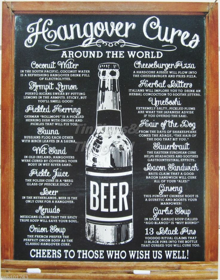 details about hangover cures around the world tin sign metal beer poster home bar decor 1976 - Metal Signs Home Decor