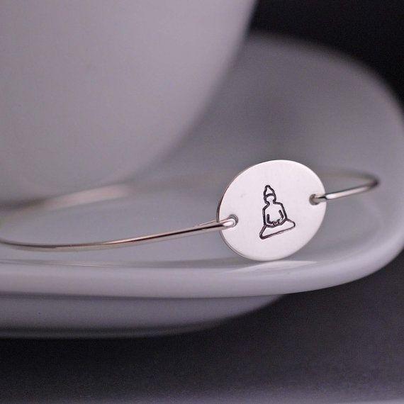 Buddha Bracelet - Meditating Buddha Yoga Jewelry by georgiedesigns