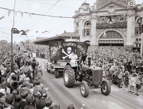 We Come From A Sunburnt Country - First Moomba parade, 1955: University of Melbourne...