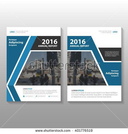 Blue Black Vector Annual Report Leaflet Brochure Flyer
