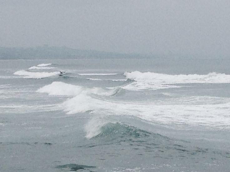 Spot the surfer, Durban beachfront March 2015