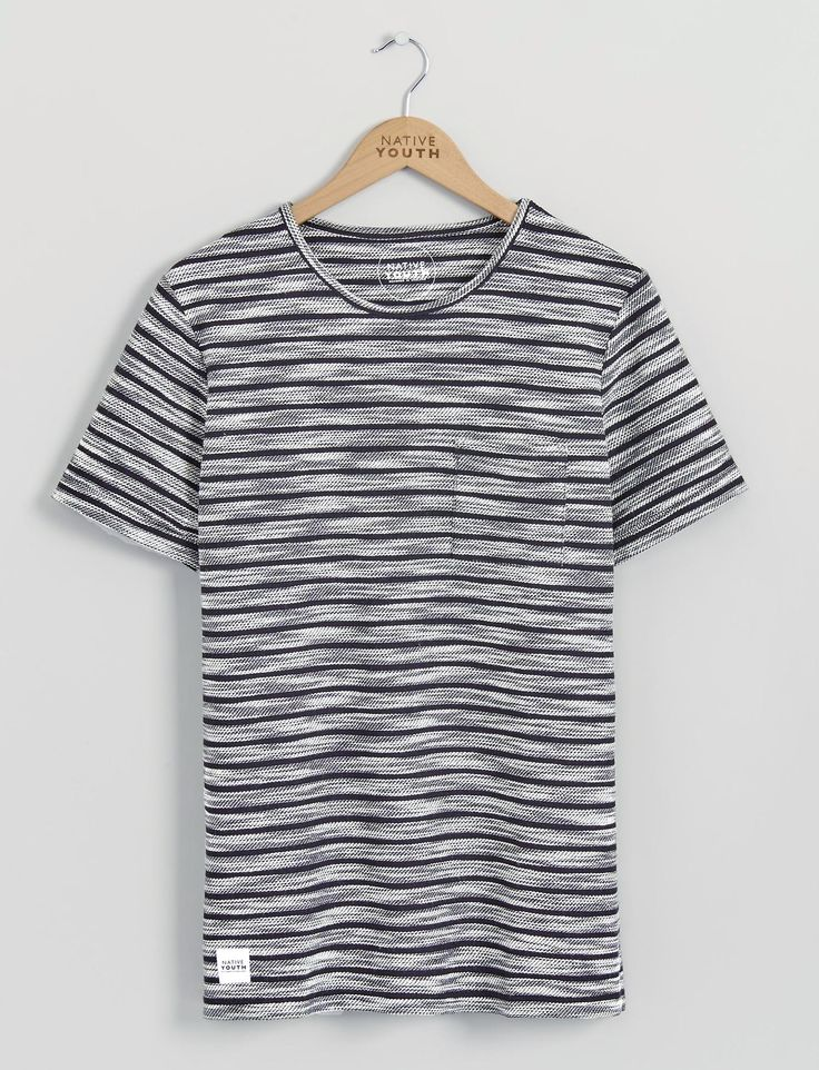 Mens T-Shirts   Textured Stripe Tee   Native Youth Like & Repin. Thanks…